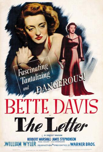 The Letter Bette Davis movie poster print 1940