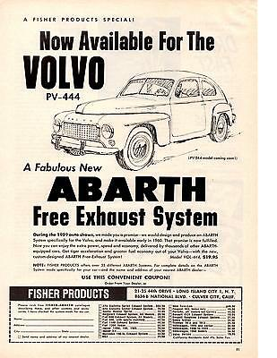 1958 VOLVO PV444 Family /& Sports Car Vintage Look REPLICA METAL SIGN
