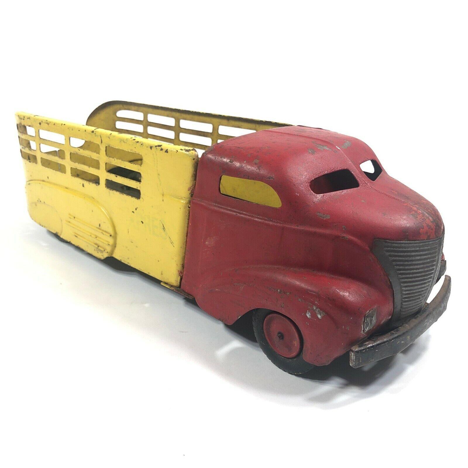 Vintage 1940 Wyandotte GMC Optimieren Kugel Nase Gepresst Stahl Spielzeug Kipper