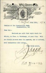 1893 New York City New York (NY) Letter William J. Stitt & Co. Charles A. Roraba