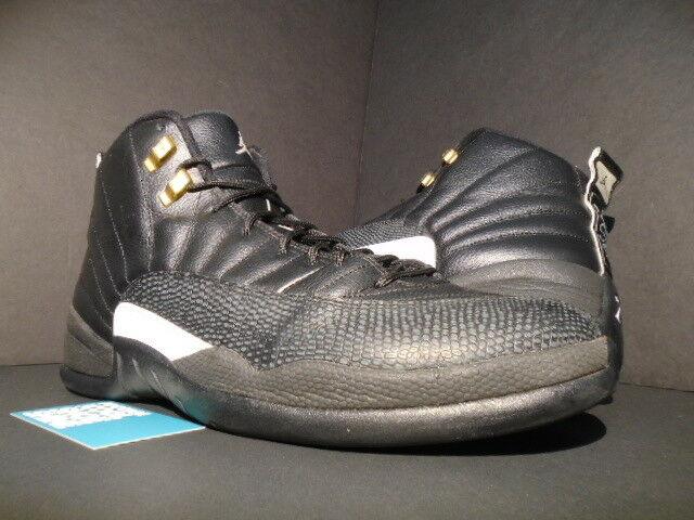 Nike Air Jordan XII 12 Retro THE MASTER BLACK WHITE GOLD TAXI 130690-013 13 Cheap women's shoes women's shoes