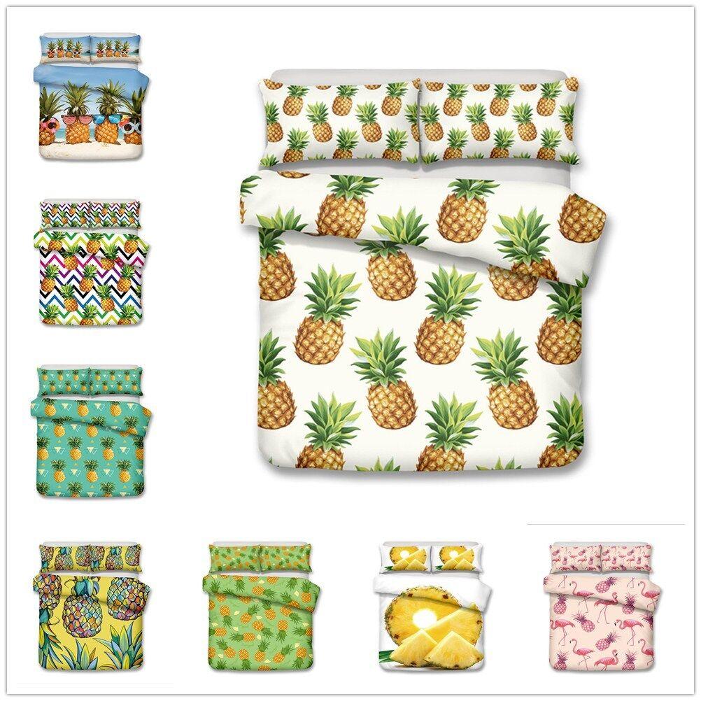 3D Pineapple colorful Bedding Sets Duvet Cover Pillowcase Comforter Quilt Cover