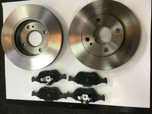 FRONT BRAKE DISCS /& PADS FITS FORD FIESTA MK7 OE QUALITY