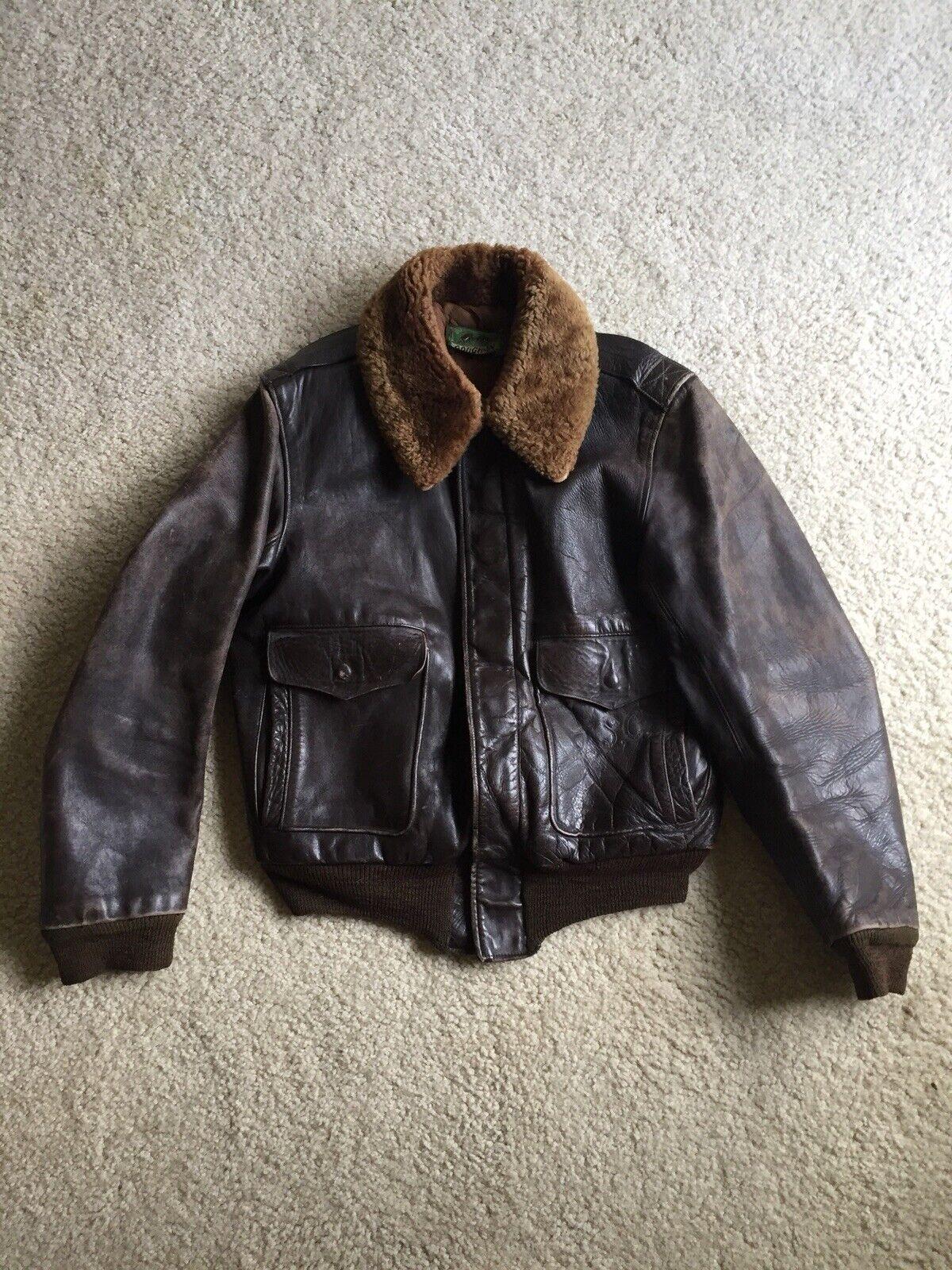 Vintage Rough Wear Rough-In Front Quarter Horsehide Leather Jacket