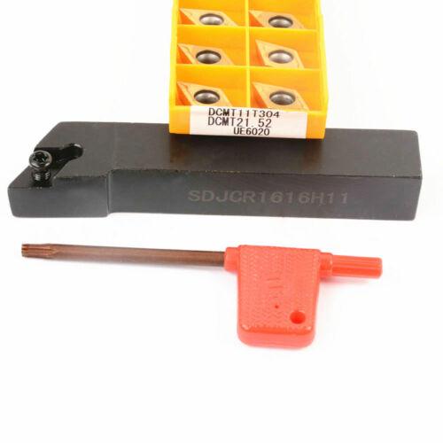 SDJCR1616H11 16x100mm Drehbank Externe Drehwerkzeug Halter W//10 DCMT11T304 Fügt