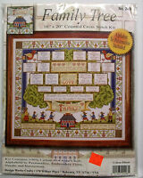 family tree counted cross stitch kit 16 inch x 20 14 count 021465024981 Craft Supplies