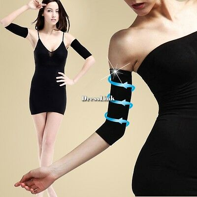 2014 Ladies Slimming Weight Loss Arm Shaper Cellulite Fat Buster Wrap/Belt Black