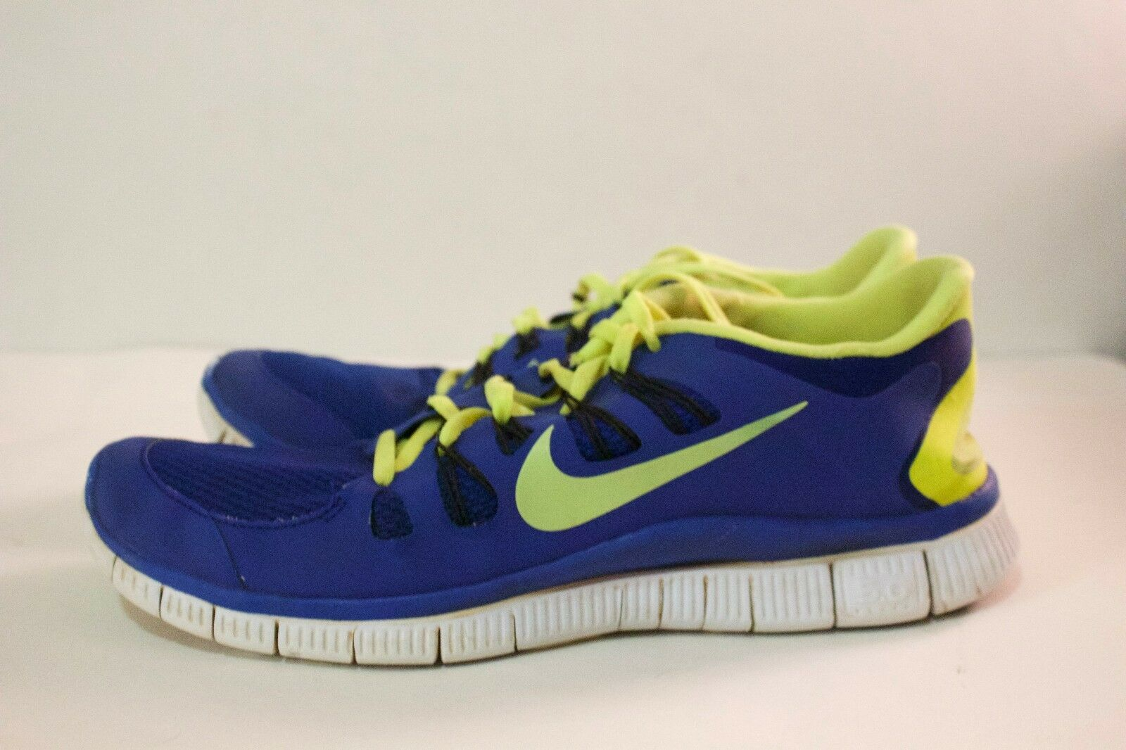 Nike Free Run 5.0 Men's US Size 11 and Royal Blue and 11 Neon Yellow Great condition f396bf