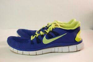 Nike Free Run 5.0 Men's US Size 11 Royal Blue and Neon Yellow Great ...