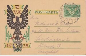 Deutsches-Reich-Ganzsache-P-206-i-Muenchen-Verkehrsausstellung-1925-sst-oo