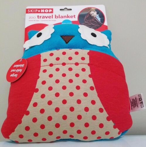 Skip Hop Kids Zoo Travel Blanket OWL w// Easy Grab Carrying Handle