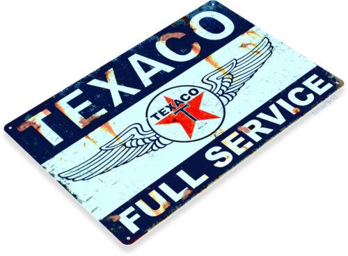 GLACOIDE Texaco service gas-oil en métal décor pompe auto Station shop boutique A744