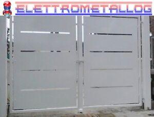 Misure Standard Cancello A Due Ante.Cancello A Due Ante In Ferro Zincato Verniciato A Scelta Serie