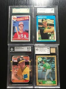 Mark-McGwire-Large-Lot-of-Graded-RC-1985-Topps-SGC-8-1987-Donruss-Topps-Fleer