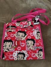 Zippered Pockets /& Waterproof Exterior NEW Betty Boop Reusable Tote Bag
