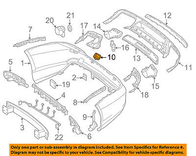 MERCEDES OEM 13-16 SL550 Rear Bumper-Tow Hook Eye Cap Cover 23188507239999