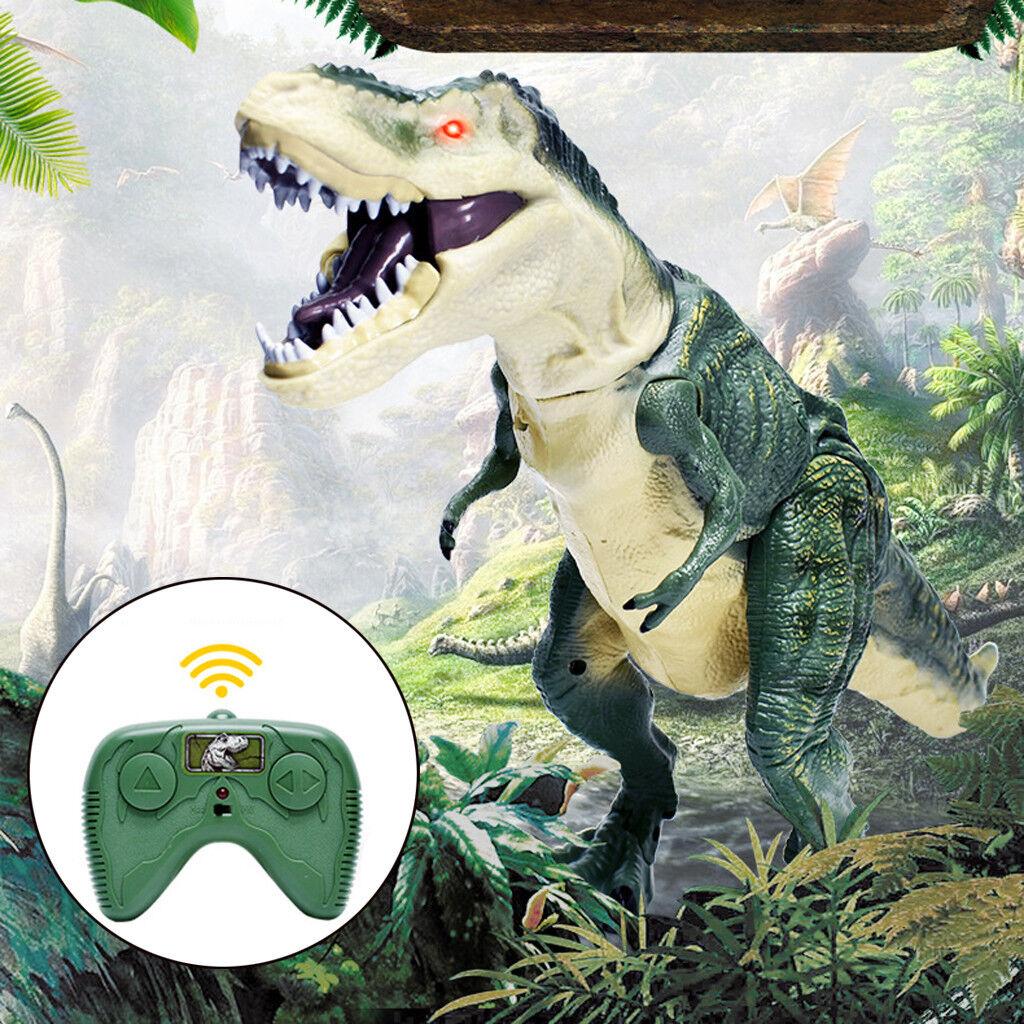 Control Remoto Eléctrico de caminar Gigante Juguete De Dinosaurio Luz Sonido Figura De Acción Nueva
