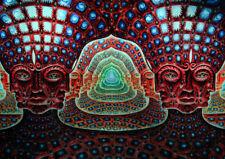 G130 Psychedelic Acid Lsd Acrylic Trippy Art Poster Silk Cloth Print