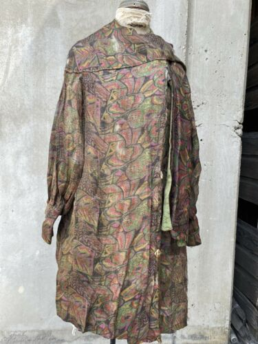 Antique 1920s Multi-color Lamé Art Deco Opera Coat