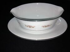 RC (Noritake) gravy boat, bowl with attached plate (Petula)
