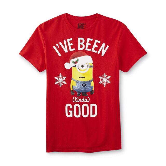Merry Minion Xmas Christmas Boys Girls Womens Kids Mens Funny T Shirt Tshirt