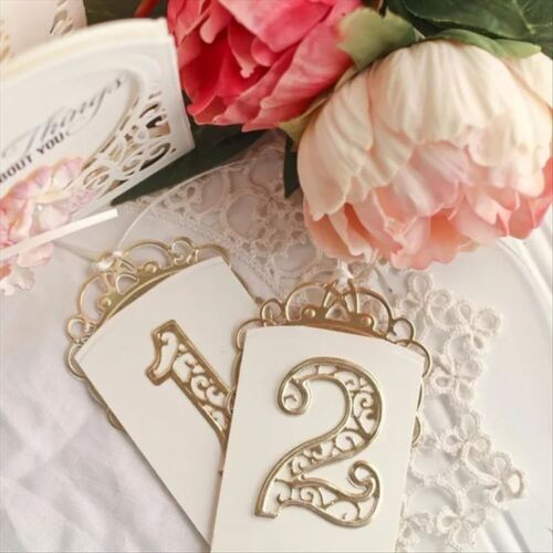 Lace Numbers Metal Cutting Dies Stencil Scrapbooking Embossing Paper Card Craft