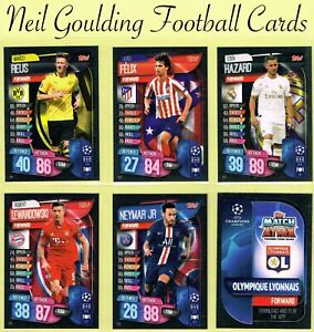 Champions-League-MATCH-ATTAX-2019-2020-Football-Cards-143-to-216-UK