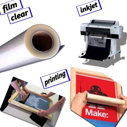 """roll 24/"""" x 100/' Premium Waterproof  Inkjet Milky Transparency Screen Printing"""