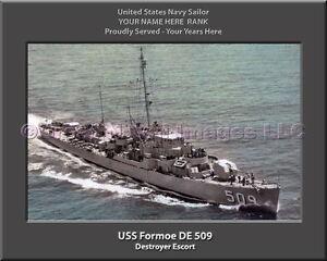 USS FORMOE DE 509  Destroyer Escort US Ship USN Navy Photo Print