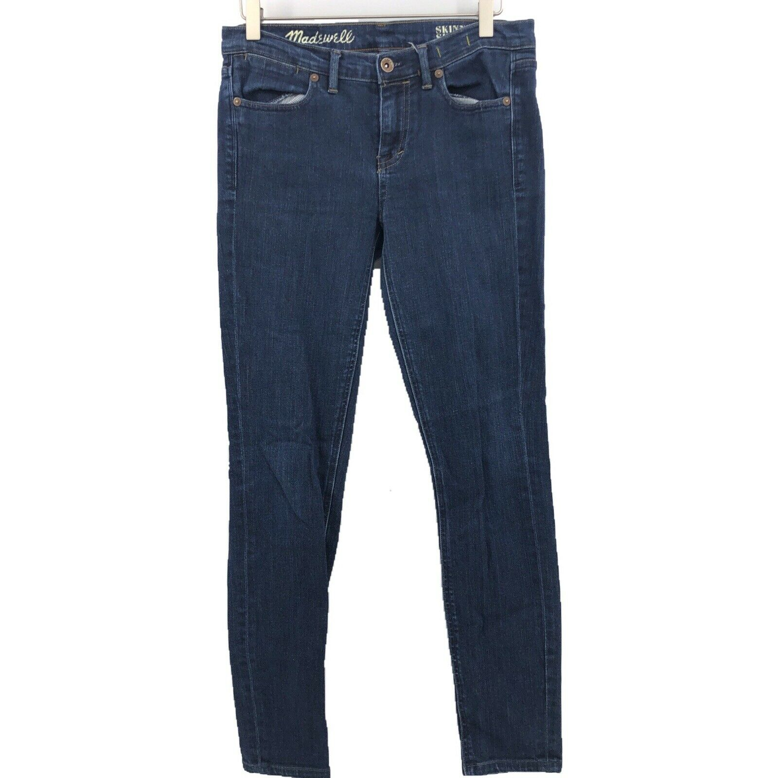 MADEWELL Womens bluee High Rise Skinny Skinny Jeans Stretch Denim 27 X 28 Ankle