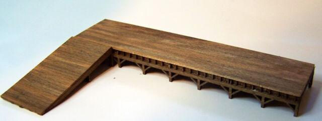 LOADING DOCK HO HOn3 Model Railroad Structure Unpainted Wood Laser Kit RSL2026