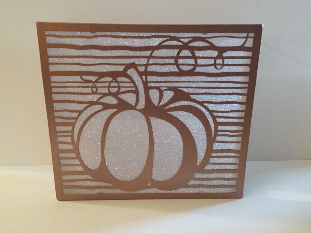 YANKEE CANDLE 3 Tealight Holder PUMPKIN SCREEN Copper NEW With Tags Boxed FALL