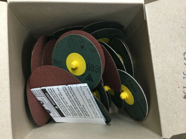 """3M Roloc 22351 Surface Conditioning Discs 80 Grit 3/"""" Dia Box of 50"""