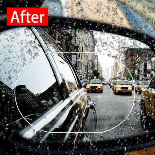 2pc Car Rearview Mirror Sticker Rainproof Protective Film Anti-fog Rain Shield
