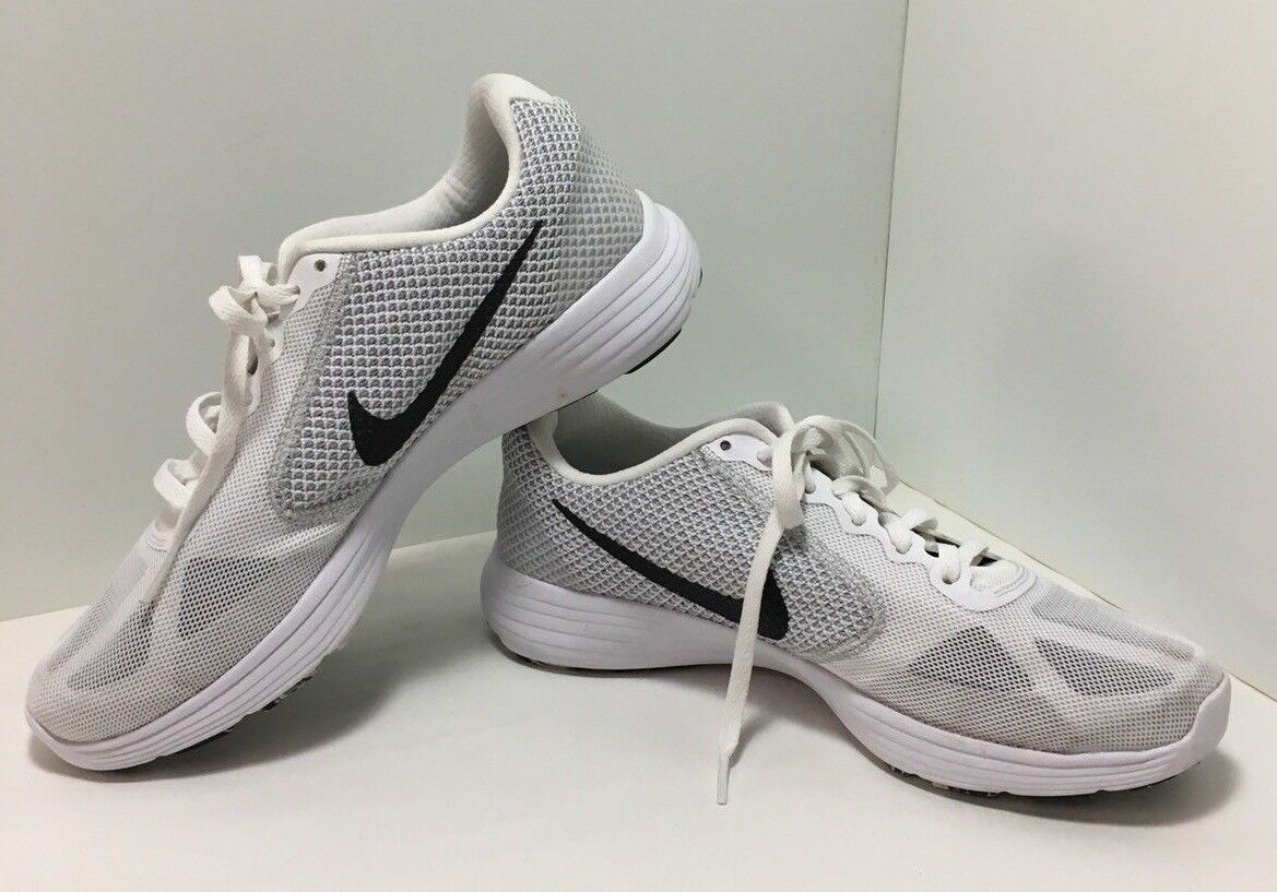 Nike Womens REVOLUTION 3 White/Grey Sz 8.5  Running Shoes The latest discount shoes for men and women