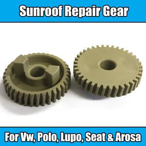 Bien éDuqué 2x Toit Ouvrant Réparer Gear Pour Vw Polo Lupo Seat Arosa Beige Plastique-afficher Le Titre D'origine BéNéFique à La Moelle Essentielle