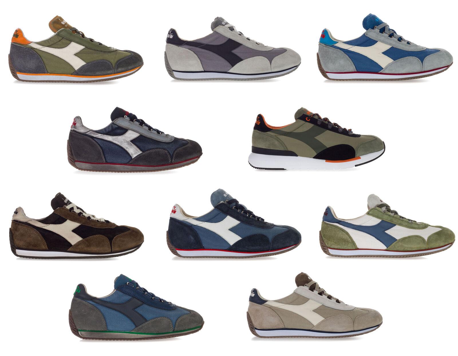 DIADORA HERITAGE Men's Women's EQUIPE Sneakers shoes STONE WASH 12 DIRTY 11 EVO