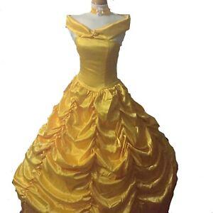 Adult-Belle-Costume-Cosplay-Princess-Fancy-Dress-Hoop-Sizes-6-8-10-12-14-16-18
