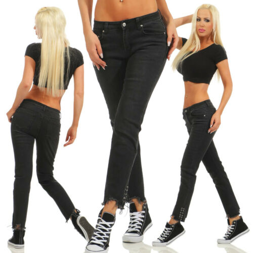 10806-1 Knackige Damen Jeans Röhrenjeans Hose Damenjeans Stretch-Denim Skinny ..