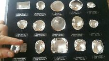 """VERY RARE old 15 """"Historical Diamonds"""" set, all flawless large carat life size"""