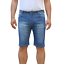 Bermuda-Uomo-Jeans-Denim-Corto-Tasche-America-Pantaloncino-Blu-Shorts-Casual-t miniatura 17