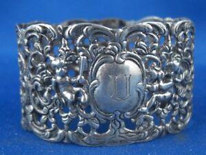 Silber Serviettenring Hildesheimer Rose Bodemer 835er Silber