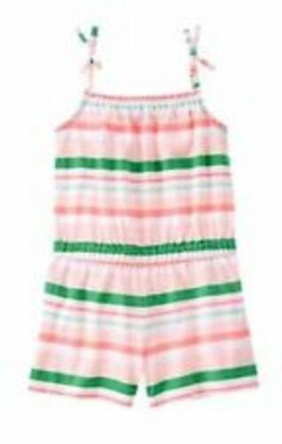 NWT Gymboree Girls Island Cruise Striped Romper Size 4 5 6
