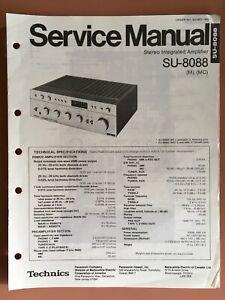 Details about Technics Model SU-8088 Stereo Integrated Amplifier Original  Service Manual