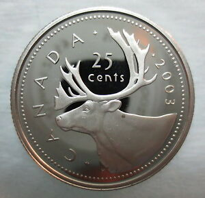 2003-CANADA-25-CENTS-PROOF-SILVER-QUARTER-HEAVY-CAMEO-COIN