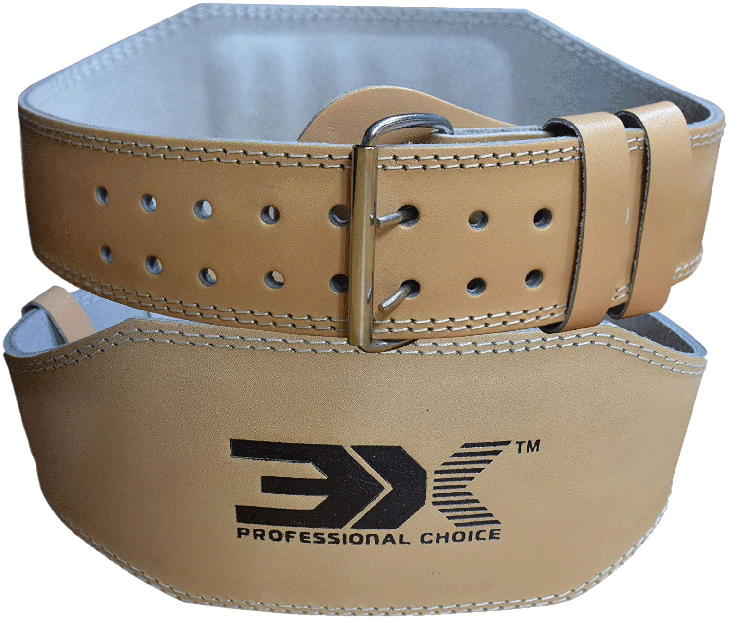 """Leather Weight Lifting Belt Pro 4/"""" 6/"""" Power Lifting Workouts Deadlift Supports"""