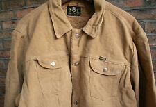 Trapunta Vintage 70s Maverick Blue Bell Cotone Spazzolato Pile Foderato Western Popper Jacket 44