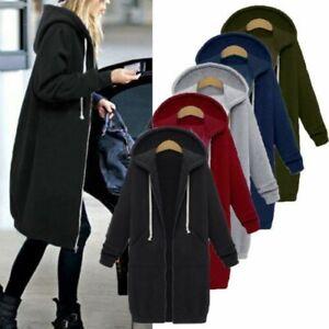 Womens-Long-Sleeve-Hoodies-Sweater-Pullover-Hooded-Sweatshirt-Coat-Jacket-Tops