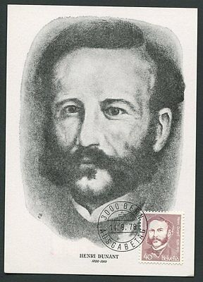 Stamps Organizations Schweiz Mk 1978 Henry Dunant Rotes Kreuz Red Cross Maximum Card Mc Cm A3955 Clearance Price
