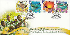 Vanuatu 2012 FDC Greetings 4v Set Cover Port Vila